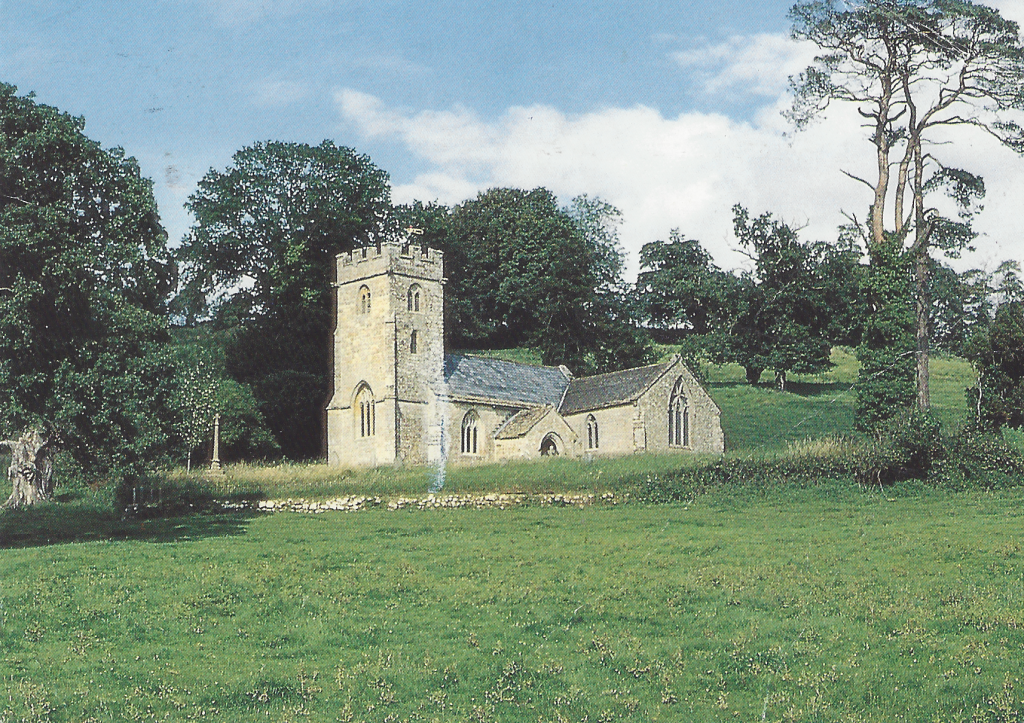 The postcard sent to me of the 'old church' by Ros which meant I had to return to Stocklinch.